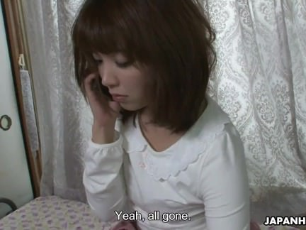 Insatiable Japanese wife masturbates while several voyeurs watch and stroke