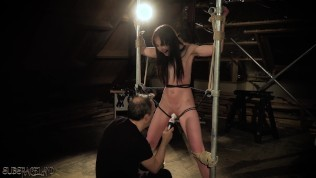 Young slave spanked and rough punishment from BDSM sex master