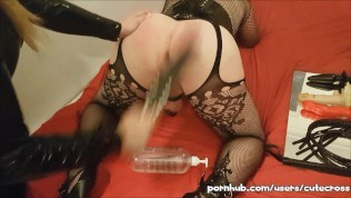 Sissy slave spanked and finger fucked by Mistress