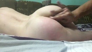 Spanked wife's ass and roughly fucked in wet pussy