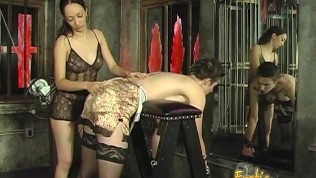 Foxy tattooed bimbo likes being spanked really hard by her dominatrix