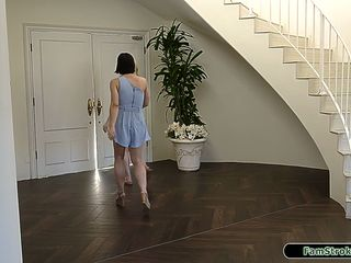 Stepteen disciplined by stepdad through sucking and spanking