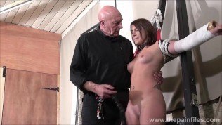 hot amateur slave lexis tit whipping and pussy spanking in extreme bondage