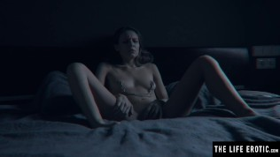 Hot bdsm babe with perfect tits needs nipple clamps and spanking
